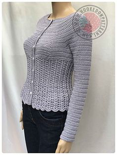 This is a crochet pattern for a beautiful, fitted, long sleeved cardigan. It uses subtle darting to shape to form and gently swoops in at the waist before skimming over the hips.