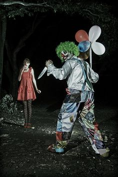 Evil clown photoshoots forever.