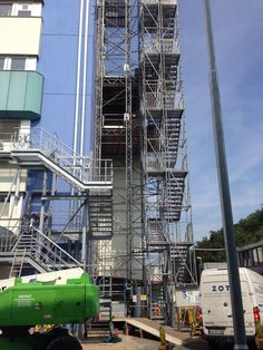 Tower for stairs made from layher allround