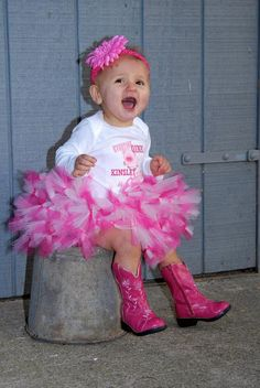 1st Birthday Farm themed Birthday - Pig Birthday Petti Tutu Outfit - w/Child's Name , $59.95
