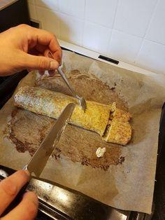 Kartoffelroulade med flødeost og kylling