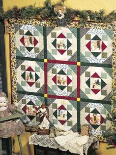 Quilting - Special Occasions - Christmas Quilts - Angel Holidays Free Wall Quilt Pattern - #FQ00261