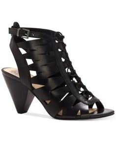 Vince Camuto Elettra Caged Sandals - Black 8.5M