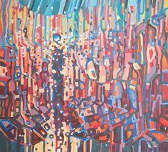 Modern acrylic paints on MDF board 93x103 cm.  Untitled 24012016 Artist: Piotr Banachowicz, Poland