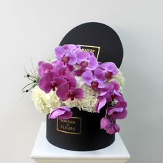 Maison Des Fleurs ♡ Phalaenopsis Orchids and White Hydrangeas