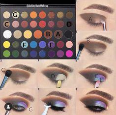Tutorial with james charles x morphe eyeshadow palette Makeup Eye Looks, Eye Makeup Steps, Eye Makeup Art, Crazy Makeup, Makeup Kit, Skin Makeup, Sleek Makeup, Makeup Geek, Makeup Ideas