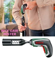 manly electric-screwdriver bottle opener