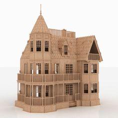 Laurel Town Home Wooden Dolls House