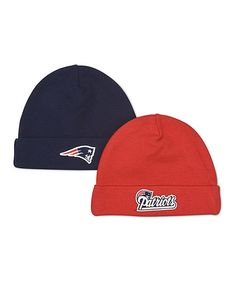 50f0fa9eda7 Take a look at this Navy   Red New England Patriots Beanie Set on zulily  today