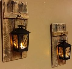 hanging lanterns candle wood - Google Search