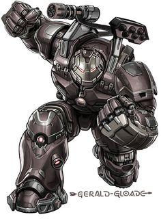 Iron Patriot HulkBuster_by gloade on DeviantArt Marvel Comic Universe, Marvel Dc Comics, Marvel Heroes, Marvel Avengers, Marvel Comic Character, Marvel Characters, War Machine Iron Man, Iron Man Hulkbuster, Iron Man Art
