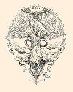 Yggdrasil, Uroboros by sunshiver