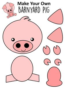 Easy DiY Pig Craft Activity for Preschool Kids - Simple Mom Project - Farm Animal Crafts Farm Animal Crafts, Pig Crafts, Farm Crafts, Animal Crafts For Kids, Crafts For Teens To Make, Unicorn Crafts, Clay Crafts, Easy Preschool Crafts, Fun Diy Crafts