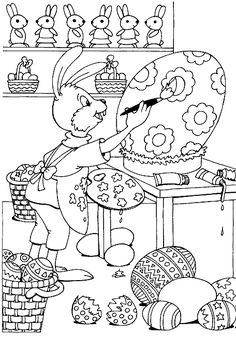 Before you color your Easter eggs, grab your crayons and color these 3 fun Easter coloring pages! When your children finish, encourage them to write a Happy Easter message on the back and give the picture away to friends and family.Preparing for Easter Easter Coloring Pictures, Easter Coloring Sheets, Easter Bunny Colouring, Bunny Coloring Pages, Free Coloring Pages, Coloring For Kids, Printable Coloring Pages, Coloring Books, Easter Art