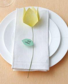 Yellow origami kusudama flower