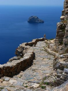 Seaside Rocky Trail - Amorgos Island, Greece ♥