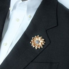 Champagne Boutonniere Champagne Lapel Flower Beige Lapel Flower Mens Lapel Flower Tan Lapel Flower Beige Lapel Flowers for Men