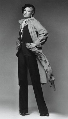 NAN KEMPNER, WEARING YSL AND HALSTON, C 1974
