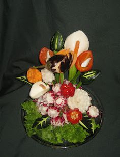 fruit and vegetable  flora arrangements | Vegetable and Fruit Carving Success Story: Aneta Lekas