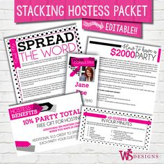 Black Dot Stacking Hostess Packet