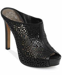Vince Camuto Jaso Platform Sandals leather black, cloud cream, saddle 4.75heel sz7.5 89.99 Sale thru 4/20 30%off thru 4/20