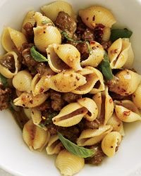 Pasta with Sausage, Basil and Mustard Recipe on Food