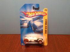Hot Wheels RocketFire #22 2008 New Models #22 of 40 White w/ Orange Wheels…