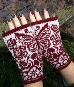 Ravelry: Gurli (mittens and halfmittens) pattern by JennyPenny Crochet Mittens, Mittens Pattern, Crochet Gloves, Knitted Hats, Knit Crochet, Fair Isle Knitting, Knitting Socks, Yarn Projects, Knitting Projects
