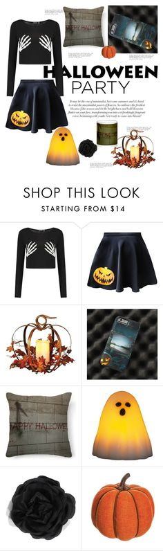"""""""Halloween Party #halloweenparty"""" by stine1online ❤ liked on Polyvore featuring interior, interiors, interior design, home, home decor, interior decorating, Accessorize, Allstate Floral and Halloweenparty"""
