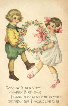 Vintage Images: Birthday greeting across the miles.