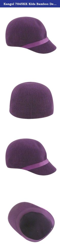 Kangol 7045KK Kids Bamboo Deeto Hat, Grape Sicl, M. The Bamboo Deeto is a very cute girls' shape, with a round crown and a tonal ribbon band across the top of the stingy peak. Bamboo yarn is a soft handle, environmentally friendly yarn that has become a staple in the Kangol range.
