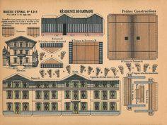 Vintage printable house Circa 1850