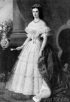 Franz Russ der Ältere - Elisabeth v.Österreich,Porträt/ Ruß