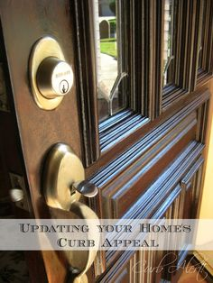 Curb Alert!:  Updating your Home's Curb Appeal by #refinishing your #frontdoor.