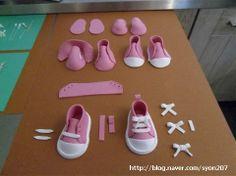 Tutorial paso a paso de como hacer unas zapatillas de deporte para fofuchas.
