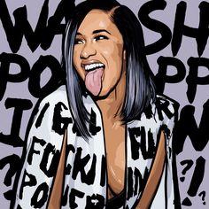 Stream Cardi B Bodak Yellow Remix by Teshawn Beats from desktop or your mobile device Black Girl Art, Black Women Art, Art Girl, Cardi B Photos, Trill Art, Black Art Pictures, Hip Hop Art, Gucci Mane, Celebrity Drawings