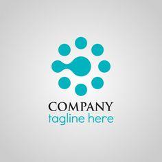 Turquoise logo modèle Vecteur gratuit