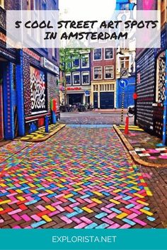 Street art guide Amsterdam: the 5 coolest street art spots Street art: you love it or hate it. I love the personality and color it brings to a city. These are my favorite street art locations in Amsterdam. Street Art Amsterdam, Amsterdam Travel, Amsterdam Bike, Amsterdam Food, European Destination, European Travel, Europe Travel Tips, Travel Goals, Travel Destinations