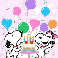 SNOOPYたちの誕生日なので 携帯の着せ替え壁紙がお誕生日バージョンになりました❤❤❤ 可愛すぎる~~~ HappyBirthday #SNOOPY誕生日 #SNOOPY兄弟 #壁紙お誕生日バージョン
