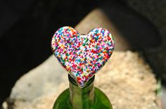 Valentine's Wine Stopper with Candy Sprinkles