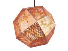 Luminária pendente de cobre ETCH SHADE COPPER Coleção Etch by Tom Dixon | design Tom Dixon