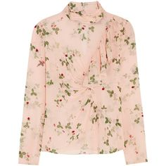 Topshop Unique Hortensia printed silk blouse ($220) ❤ liked on Polyvore featuring tops, blouses, shirts, topshop unique, pink, pink silk blouse, floral blouse, pink floral shirt, silk floral blouse and pink shirt