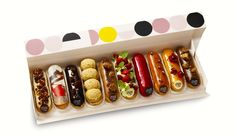 Yes, we'll always love French macarons, but there's a new trend in pastry right now in New York… Eclairs have taken center stage Yes, we know. Eclairs have been … Desserts Français, French Desserts, French Food, Plated Desserts, Dessert Recipes, Eclairs, Profiteroles, Chocolates Gourmet, Christophe Adam