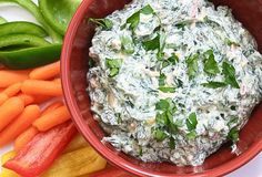 Lite Veggie and Herb Spinach Dip