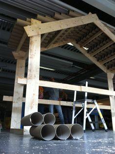 Costruzione di Casa Consorzio per la Biennale della Prossimità di Genova - 10-12 ottobre 2014. #biennaleprossimità www.coopagridea.org