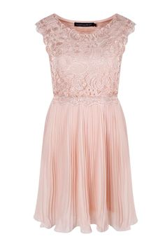 Boutique Elizabeth Corded Lace Pleated Skater Dress alternative image
