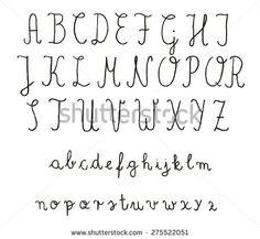Calligraphy fonts. Vector alphabet. Hand drawn letters. Letters of the alphabet written with a pencil.