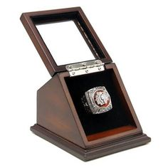 NHL 2013 Chicago Blackhawks Stanley Cup Championship Replica Fan Ring with Wooden Display Case Box