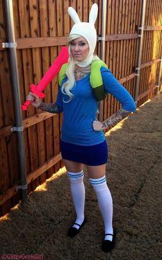 GLITZY GEEK GIRL: Tutorial: Adventure Time Fionna Cosplay