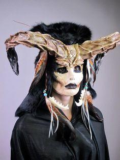 Cinema Makeup School~love the horns Horror Makeup, Scary Makeup, Sfx Makeup, Costume Makeup, Halloween Makeup, Halloween Art, Face Off Makeup, Cinema Makeup School, Monster Makeup